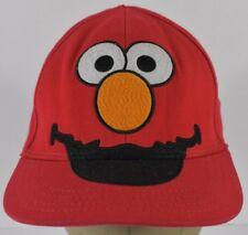 Red ELMO Sesame Street Character Face Embroidered Baseball Hat Cap Fitted