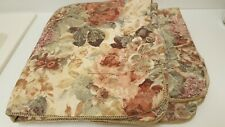 2 CROSCILL COTSWOLD PADDED FLORAL CINNAMON GREEN CREAM EURO PILLOW SHAMS NEW