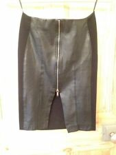 Zara Faux Leather Party Straight, Pencil Skirts for Women