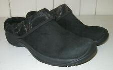 MERRELL Women's Encore Ripple Black Suede Leather Slip On Clog Shoe Sz 8.5