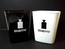 Disaronno Amaretto liquer cocktail glasses x 2 Black White bottle logo 10 oz