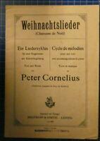 Weihnachtslieder Peter Cornelius Breitkopf & Härtel Leipzig H9231