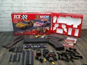 NASCAR Tri-Oval Superspeedway SCX Compact 1:43 Slot Racing Set Matt Kenseth Greg