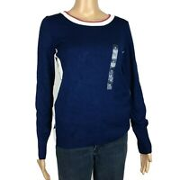 New Hippie Rose Womens Pullover Blue Sweater Size M NWT