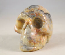 """2"""" GORGEOUS CRAZY LACE AGATE SKULL"""