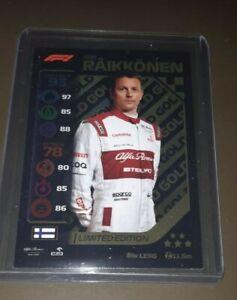 Topps Turbo formula 1Attax F1 Kimi Raikkonen Gold Limited Edition