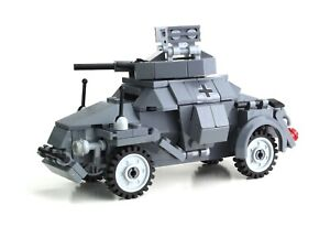 Axis Armored car Tank World War 2 Complete Set made w/ real LEGO® bricks