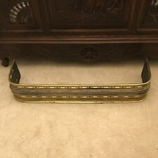 Antique Brass and metal fire fender