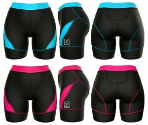 Womens Triathlon Bottoms Padded Compression Running Swimming Cycling Skin Suit