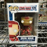 "Funko Pop Marvel Civil War Captain America : Iron Man #126 Vinyl ""MINT"""