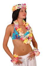 Set Hawaïen Hawai Luxe Fluo 1 Collier + 1 Couronne + 2 Bracelets Deguisements