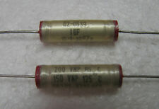 4 Sprague 1uF 200V Bi-Polar M39018/02 125°C Electrolytic Capacitors