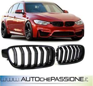 Coppia griglie nero lucido BMW F30/F31 2011>2015 doppio rene serie 3