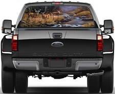 Deers Wildlife Scene Ver 1  Rear Window Graphic Decal Sticker Truck SUV Van Car
