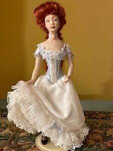 Beautiful artisan miniature dollhouse Victorian lady doll