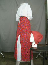 Prairie Dress Frontier Style Costume Civil War Reenactment Old West L-Xl