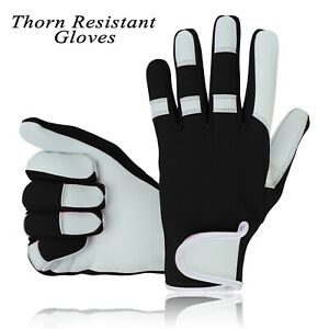 Men's Gardening Leather Gloves Mechanic Builder Thorn Proof Garden work gloves
