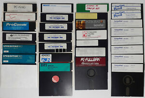 Lot of 28 Various 5.25 Used Floppy Discs w/ 2 Storage Cases 5 1/4