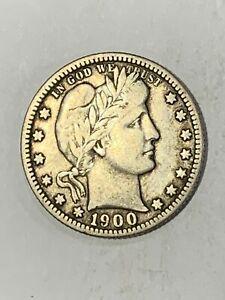 1900-S Barber Silver Quarter VF Uncertified