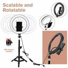 """10"""" LED Ring Light w/Stand & Mount Kit for Camera Phone Selfie Video Live Stream"""