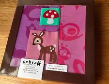 SEBRA Junior Bed Linen 'Baby Forest Lilac' 100% Organic Duvet & Pillowcase Set