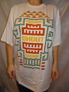 Never Shout Never White, Triangle Design, 100% Cotton, Band T-shirt Size XXL