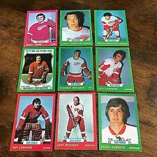 1973-74 O-PEE-CHEE  DETROIT RED WINGS 18 card TEAM  SET