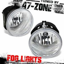 For Chrysler Dodge Jeep Mitsubishi Clear Lens Chrome Housing Fog Lights Pair Set