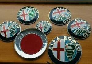 Front + Back 2 Alfa Romeo Classic Emblem Badge 147 156 159 Brera Mito Giulietta