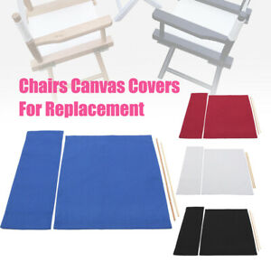 Chairs Cover Replacement Canvas Seat and Back Covers Set for Directors Chairs