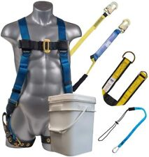 Palmer Safety 3d Fall Protection Bucket Kit I Full Body Harness Amp 6 Shock