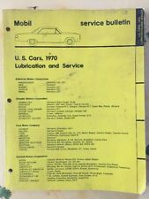 Mobil US Car 1970 Service Bulletin Lubrification Maintenance Book Binder