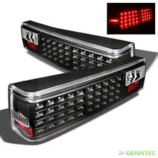 For 1987-1993 Ford Mustang LED Black TailLights Lamp Pair New Taillights
