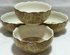 222 Fifth Adelaide Yellow Cereal//Soup Bowls 5.5 Set of 4