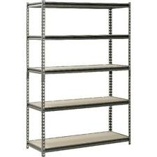 "Metal Muscle Rack Shelving Storage 48""W x 18""D x 72""H Garage 5 Shelf Heavy Duty"