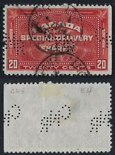 Perfin C28-CNR Canadian National Railway: Scott E4 Special Delivery, Scarce