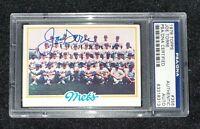 1978 Topps Mets Team Card #356 Joe Torre Yankees HOF PSA DNA Signed TOUGH Auto