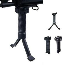 Military Tactical RIS Fore Grip Bipod Pod Picattinny Weaver Rail Rifle Foregrip