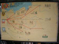 Schulwandkarte Wandkarte Das Deutsche Recht Stadtrecht im Osten Lippa 119x80cm