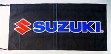 SUZUKI FLAG MOTORCYCLES BLACK - SIZE 150x75cm (5x2.5 ft) - BRAND NEW