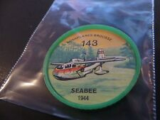 1961 JELL-O HOSTESS AIRPLANE SERIES COIN #143 1944 SEABEE HIGH GRADE