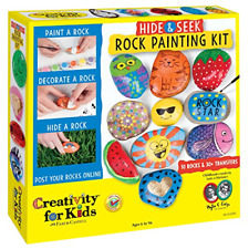 Creativity for Kids Hide and Seek Rock Painting Kit - Arts and Crafts for Kids -