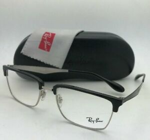 New RAY-BAN Classic Rx-able Eyeglasses RB 6397 2932 54-19 Black & Silver Frames