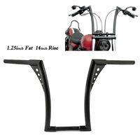"""1.25"""" Fat 14"""" Rise Ape Hangers Handlebar For Harley Softail FXST Sportster XL"""