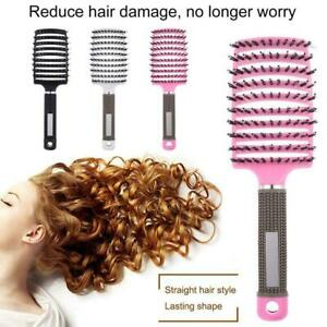 Bristle & Nylon Detangle Hairbrush Women Hair Scalp Massage Comb Brush Tools US.