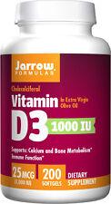 Jarrow Formulas Vitamin D3, 25 Mcg (1000IU) Softgels, 200 Count