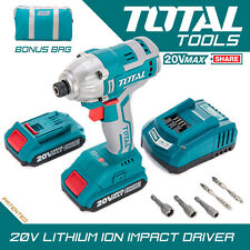 Total Outils Li-ion Visseuse 20 V sans fil 2.0Ah Batterie Chargeur & Carry Case