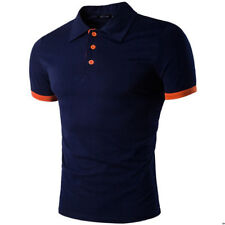 Fashion Mens Stylish Casual T-Shirts Slim Fit Short Sleeve POLO Shirt Tops