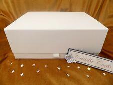 Large GIFT BOX Magnetic WHITE Keepsake Wedding Birthday Corporate Baby 21st 18th