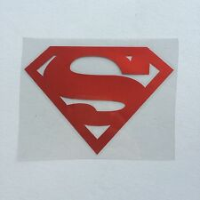 "Superman Logo - Window Vinyl Decal/ Sticker reflect- 4-1/2"" x 3"""